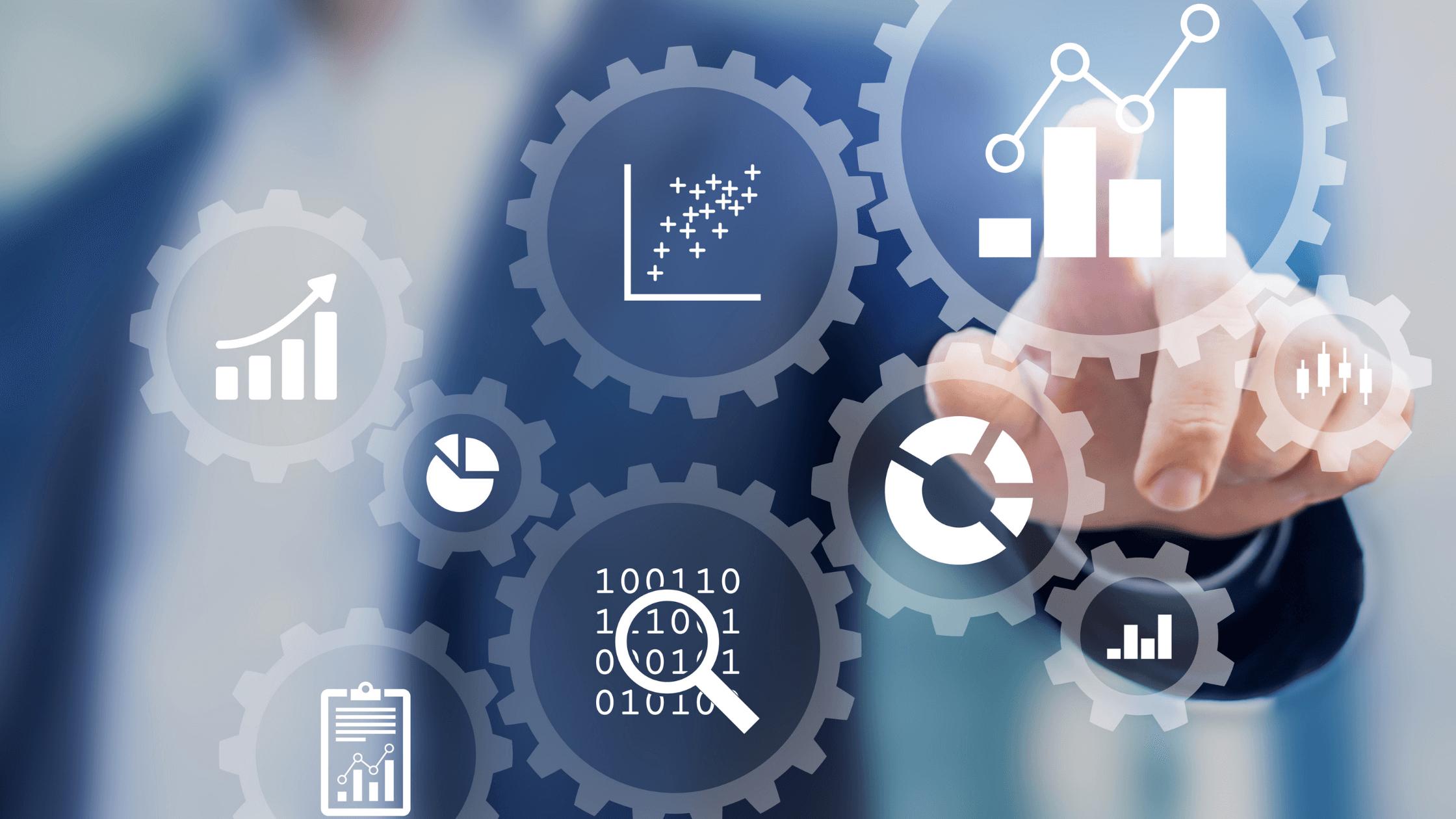 businessman leveraging self-service analytics