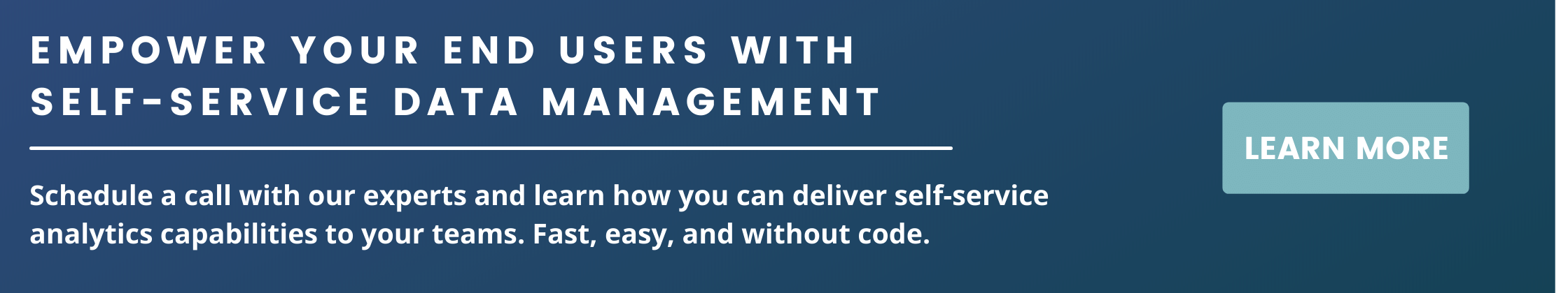 empower your users with self-service data management