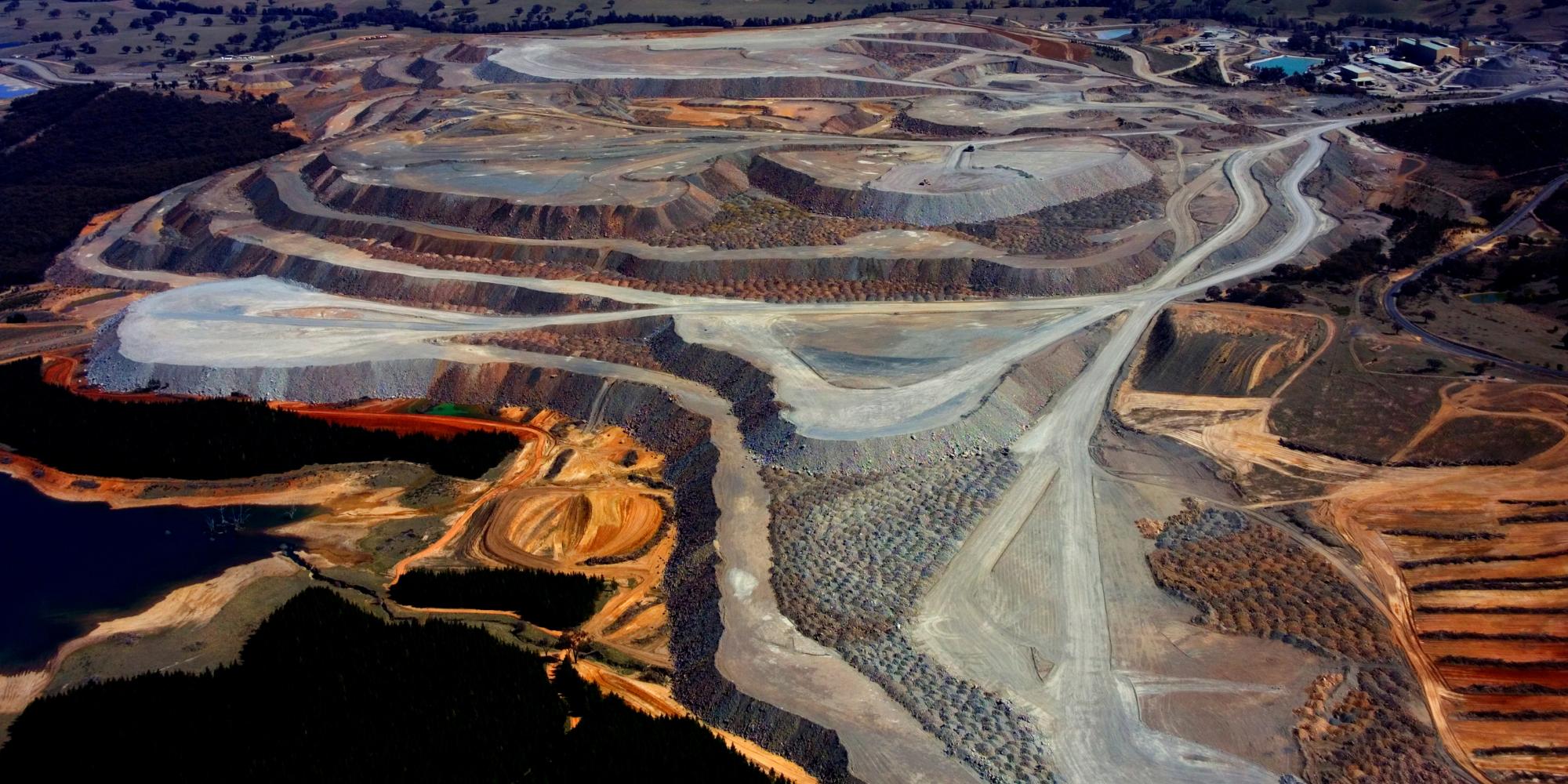 aerial panoramic view of mine in Australia